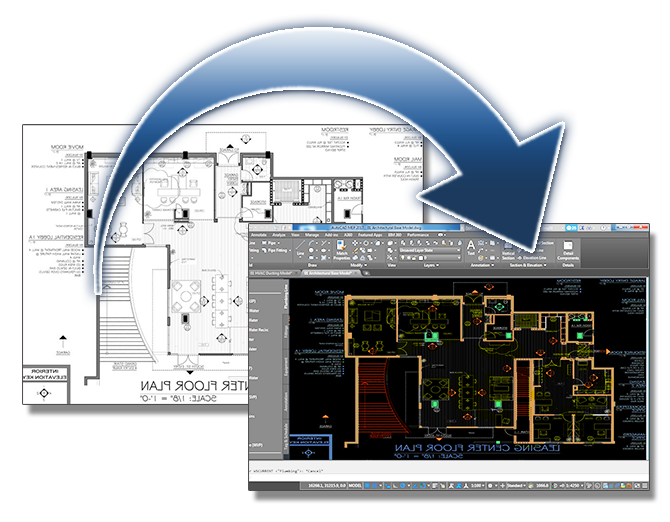Turn your existing blueprints into digital cad files dwg drexel as built updating malvernweather Images